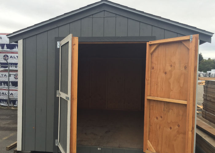 Gable Shed Kit Doors Open